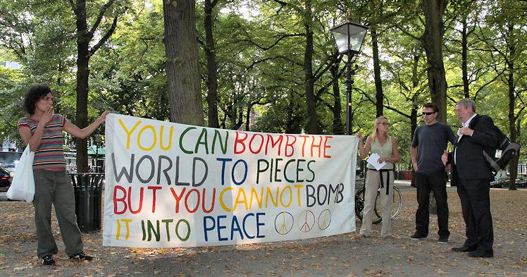 Demo tegen interventie in Syrië